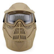 Wosport Transformers Ultimate Airsoft Mask with Clear Lens (Tan)