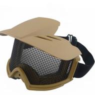 BV Tactical Desert Locust Mesh Goggles Include Sunshade (Desert Tan)