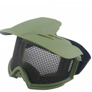 BV Tactical Desert Locust Mesh Goggles Include Sunshade (Olive Drab)