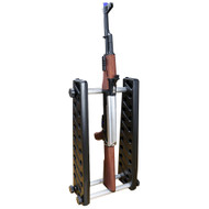 "Wosport Small 10"" Inch Airsoft Gun Rack System (Black)"