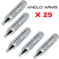 Anglo Arms Airsoft CO2 Capsule x 25 pc