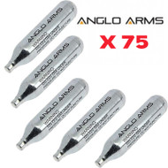 Anglo Arms Airsoft CO2 Capsule x 75 pc