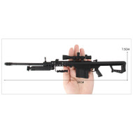 Mini Barrett M82A1 Metal Die Cast Replica 3:1 scale in Black