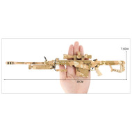 Mini Barrett M82A1 Metal Die Cast Replica 3:1 scale in Desert Camo