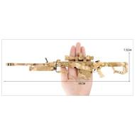 Mini Barrett M82A1 Metal Die Cast Replica 3:1 scale in Desert Camo