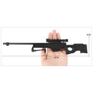 L96A1 AWM Metal Die Cast Mini Sniper rifle 3:1 scale in Black