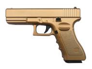 Vigor V20 Full Metal Spring G17 Pistol in Gold