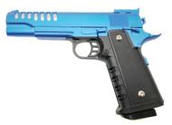 Vigor V16 Full Metal Custom M1911 Spring Pistol in Blue