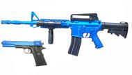 Vigor 9902 M4 Rifle & M1911 Pistol Combo Pack in Blue