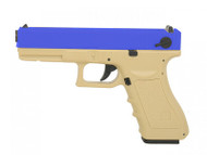 Army Armament R17 GBB Pistol In Tan and Blue