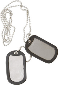 Army Dog Tags in Silver
