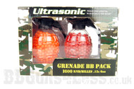 Ultrasonic Twin grenade pack of Airsoft pellets 1600 x 0.12