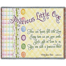 Precious Little One Mini Blanket Tapestry Throw