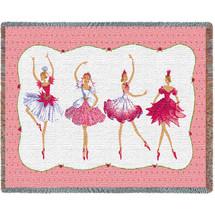 Four Ballerinas Tapestry Throw