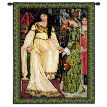 The Keepsake By Kate Elizabeth Bunce | Woven Tapestry Wall Art Hanging | Dante Gabriel Rossetti'S Poem The Staff And Scrip | 100% Cotton USA 40X26 Wall Tapestry