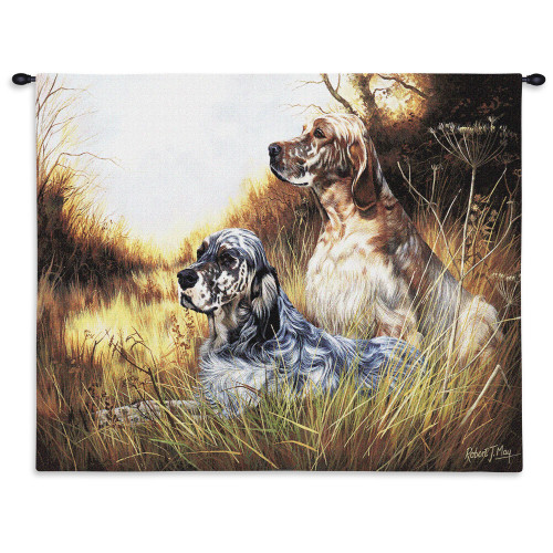 Pure Country Weavers - English Setter Hand Finished European Style Jacquard Woven Wall Tapestry. USA Size 26x34 Wall Tapestry