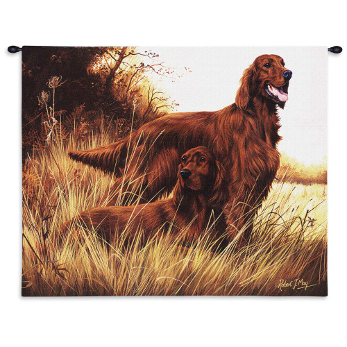 Pure Country Weavers - Irish Setter Hand Finished European Style Jacquard Woven Wall Tapestry. USA Size 26x34 Wall Tapestry