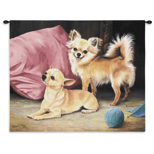 Pure Country Weavers - Chihuahua Hand Finished European Style Jacquard Woven Wall Tapestry. USA Size 26x34 Wall Tapestry