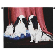 Pure Country Weavers - Japanese Chin Hand Finished European Style Jacquard Woven Wall Tapestry. USA Size 26x34 Wall Tapestry
