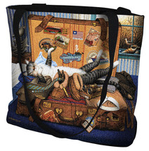 Mabel the Stowaway Cat by Charles Wysocki Tote Bag