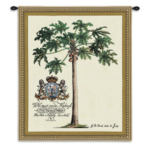 Prince Of Helse By - Woven Tapestry Wall Art Hanging For Home Living Room & Office Decor - Prince Royalty Palm Tree Natural Beige Tan Green Brown Tones - 100% Cotton - USA Wall Tapestry