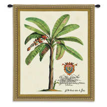 Duke Of Chaulnes | Woven Tapestry Wall Art Hanging | Palm Tree Beige Tan Green Brown | 100% Cotton USA Wall Tapestry