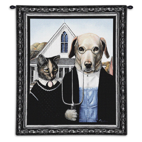Pure Country Weavers - Animal Gothic Hand Finished European Style Jacquard Woven Wall Tapestry. USA Size 34x26 Wall Tapestry