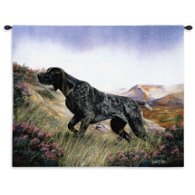 German Shorthaired Pointer by Robert May | Woven Tapestry Wall Art Hanging | Dog on Majestic Hillside Oil Painting | 100% Cotton USA Size 34x26 Wall Tapestry