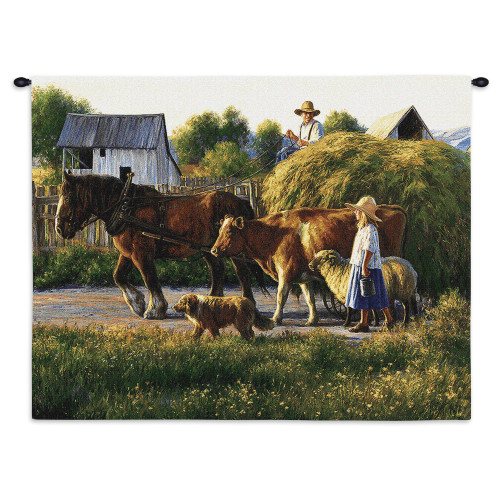 Pure Country Weavers - Passing Parade Hand Finished European Style Jacquard Woven Wall Tapestry. USA Size 26x34 Wall Tapestry