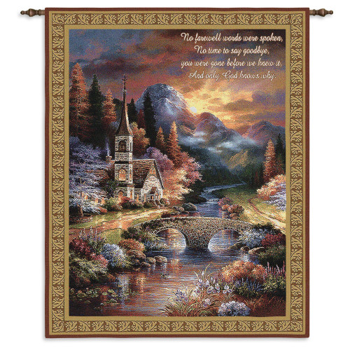 Pure Country Weavers - Early Service Hand Finished European Style Jacquard Woven Wall Tapestry. USA Size 34x26 Wall Tapestry