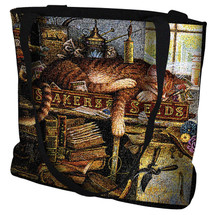 Remington The Horticulturist Hand Finished Large Woven Tote or Shoulder Bag with Magnetic Clasp 100% Cotton Double Sided Made in USA by Artisan Textile Mill Pure Country Weavers Tote Bag