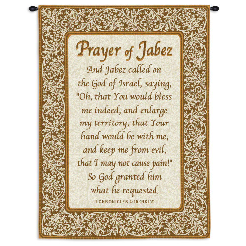 Pure Country Weavers - Prayer Of Jabez Hand Finished European Style Jacquard Woven Wall Tapestry. USA Size 26x34 Wall Tapestry