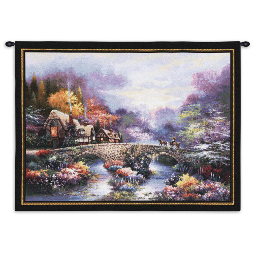 Pure Country Weavers - Going Home Hand Finished European Style Jacquard Woven Wall Tapestry. USA Size 26x34 Wall Tapestry