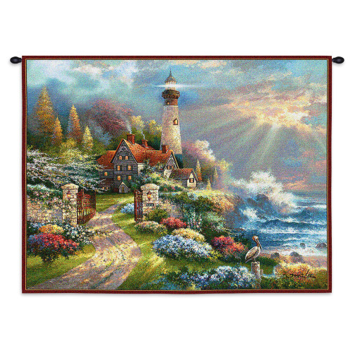 Pure Country Weavers - Coastal Splendor Hand Finished European Style Jacquard Woven Wall Tapestry. USA Size 26x34 Wall Tapestry
