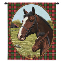 Pure Country Weavers - Cheval Hand Finished European Style Jacquard Woven Wall Tapestry. USA Size 34x26 Wall Tapestry