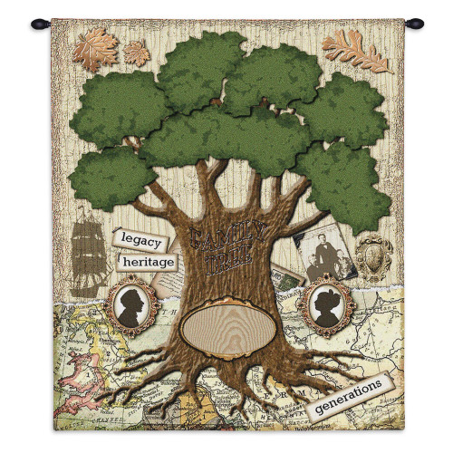 Pure Country Weavers - The Family Hand Finished European Style Jacquard Woven Wall Tapestry. USA Size 32x26 Wall Tapestry