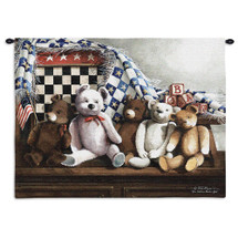 One Nation Under God   Woven Tapestry Wall Art Hanging   Patriotic American Children's Room Stuffed Animals   100% Cotton USA Size 34x26 Wall Tapestry