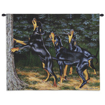 Pure Country Weavers - Night Song Hand Finished European Style Jacquard Woven Wall Tapestry. USA Size 26x34 Wall Tapestry