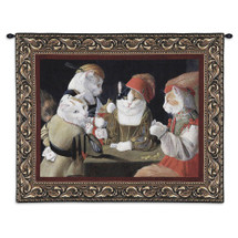 The Cheat By Melinda Copper - Woven Tapestry Wall Art Hanging - Poker Playing Kittys Is A Fun Cat Lover'S Gift - 100% Cotton - USA Wall Tapestry