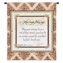 Pure Country Weavers - Your Marriage Blessing Hand Finished European Style Jacquard Woven Wall Tapestry. USA 32X26 Wall Tapestry
