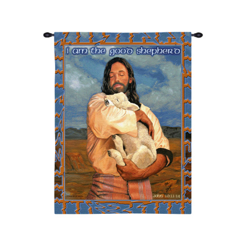 Pure Country Weavers - The Lamb Hand Finished European Style Jacquard Woven Wall Tapestry. USA Size 26x34 Wall Tapestry