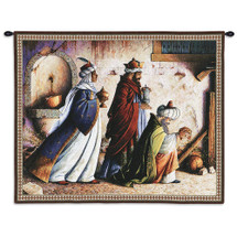 Three Kings by Stewart Sherwood - Woven Tapestry Wall Art Hanging for Home & Office Decor - Three Wise Men At Nativity Christmas Star In Bethlehem - Christian Art - 100% Cotton - USA 26X32 Wall Tapestry