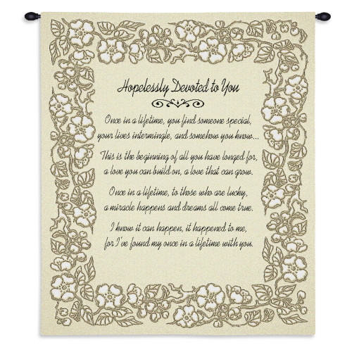 Pure Country Weavers   Wedding Embroidery Gold Hand Finished European Style Jacquard Woven Wall Tapestry. USA 32X26 Wall Tapestry