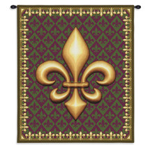 New Orleans | Woven Tapestry Wall Art Hanging | Fleur de Lis Royal French Symbol Artwork | 100% Cotton USA Size 34x26 Wall Tapestry