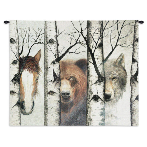 Pure Country Weavers - Trio Hand Finished European Style Jacquard Woven Wall Tapestry. USA Size 26x34 Wall Tapestry