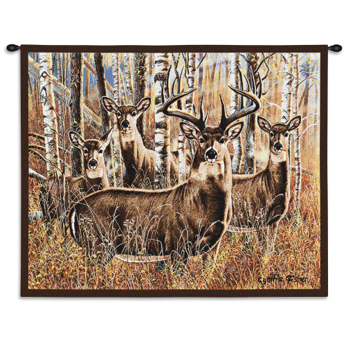 Pure Country Weavers - Sudden Encounter Hand Finished European Style Jacquard Woven Wall Tapestry. USA Size 26x34 Wall Tapestry