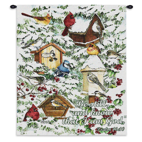 A Winter's Gift Wall Tapestry Wall Tapestry