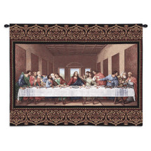 The Last Supper by Leonardo da Vinci | Woven Tapestry Wall Art Hanging | Religious Inspirational Jesus Last Supper | 100% Cotton USA Size 34x26 Wall Tapestry