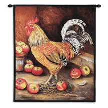 Pure Country Weavers - English Cockerel Hand Finished European Style Jacquard Woven Wall Tapestry. USA Size 34x26 Wall Tapestry