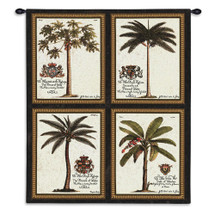 Royal Palm | Woven Tapestry Wall Art Hanging | Collage Dedicated to European Royalty | 100% Cotton USA Size 34x26 Wall Tapestry